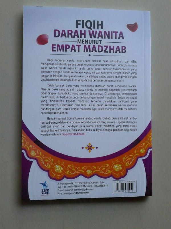 Buku Fiqih Darah Wanita Menurut Empat Madzhab Pembahasan Lengkap cover 2