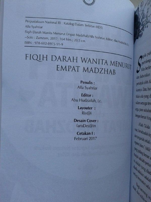 Buku Fiqih Darah Wanita Menurut Empat Madzhab Pembahasan Lengkap isi 3