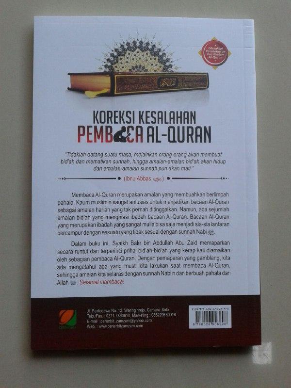 Buku Koreksi Kesalahan Pembaca Al-Qur'an Mengupas Beberapa Kekeliruan cover 2