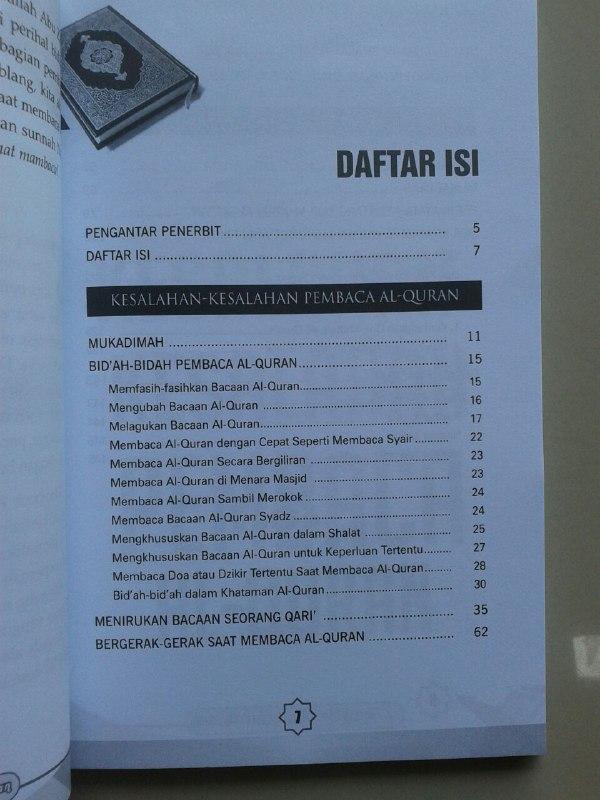Buku Koreksi Kesalahan Pembaca Al-Qur'an Mengupas Beberapa Kekeliruan isi 2