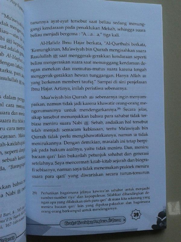 Buku Koreksi Kesalahan Pembaca Al-Qur'an Mengupas Beberapa Kekeliruan isi