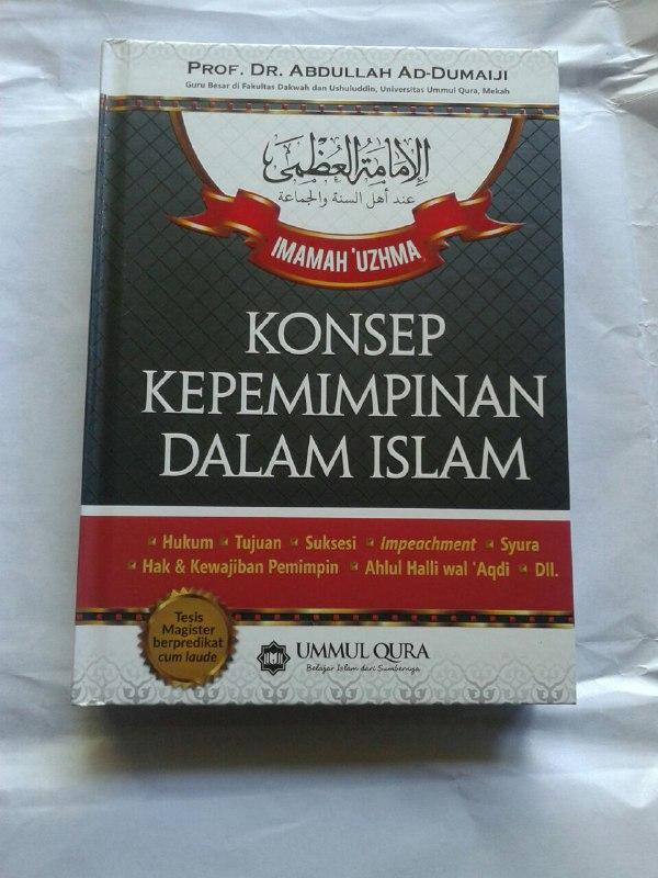 Buku Imamah 'Uzhma Konsep Kepemimpinan Dalam Islam cover