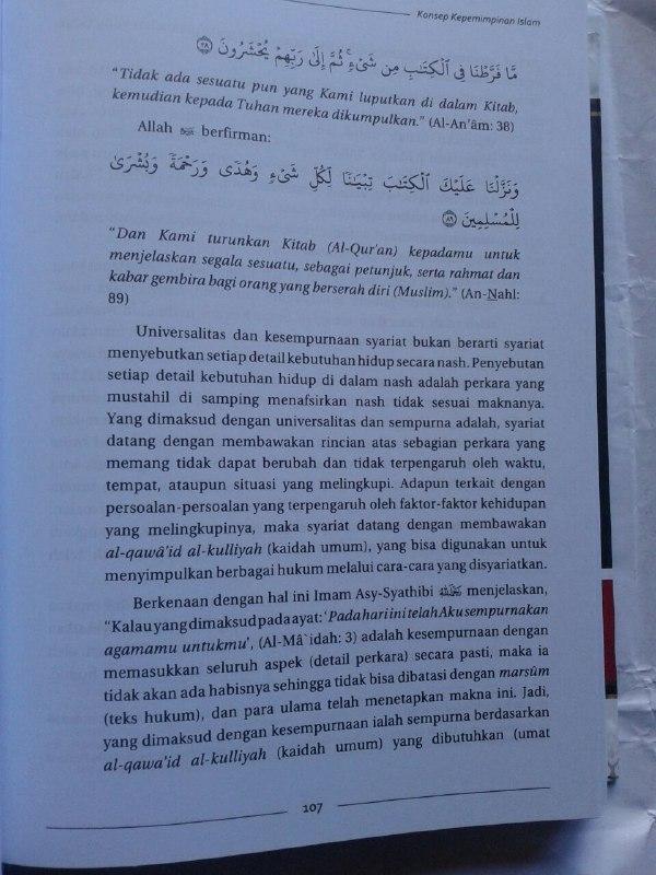 Buku Imamah 'Uzhma Konsep Kepemimpinan Dalam Islam isi