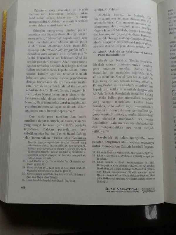 Buku Sirah Nabawiyah Ulasan Kejadian Dan Analisa Peristiwa Hidup Nabi isi