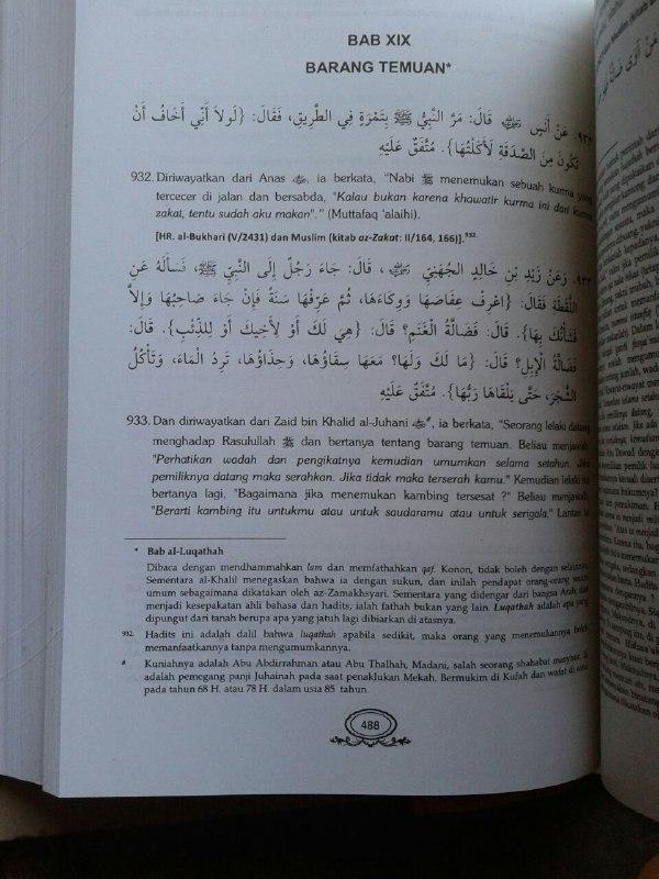 Buku Syarah Bulughul Maram Terjemah Maknawi Matan Hadits isi