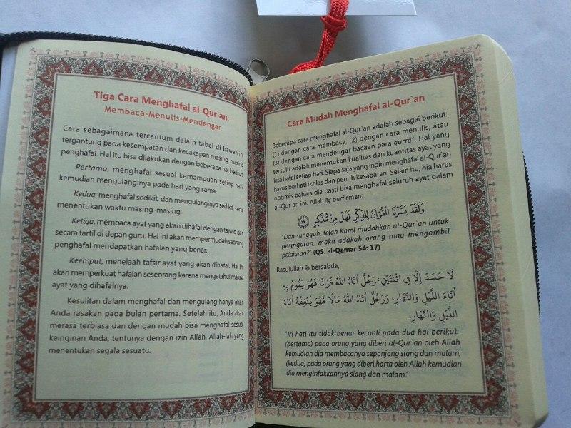 Al-Qur'an Hafalan Saku Resleting isi 2