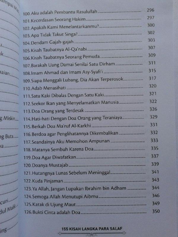 Buku 155 Kisah Langka Para Salaf Dari Kitab Turats isi 2