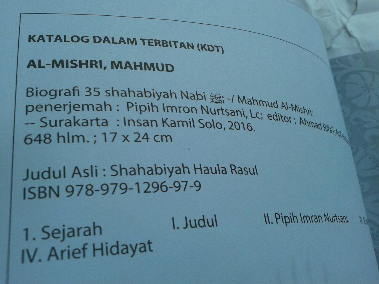 Buku Biografi 35 Shahabiyah Nabi Shallallahu Alaihi wa Sallam isi 3