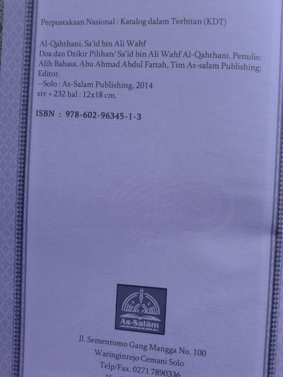 Buku Hisnul Muslim Ensiklopedi Mini Doa & Dzikir Pilihan isi 2