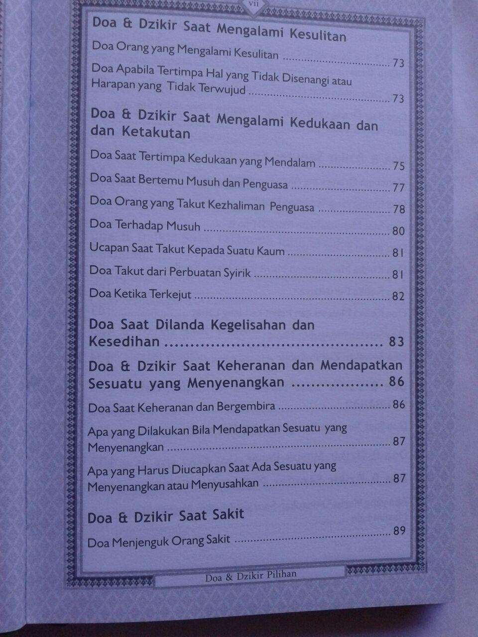Buku Hisnul Muslim Ensiklopedi Mini Doa & Dzikir Pilihan isi 4