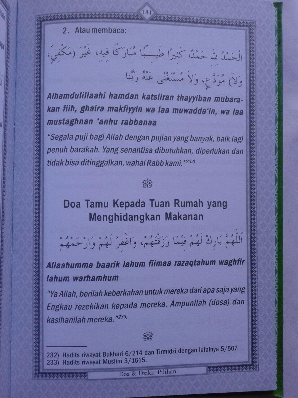 Buku Hisnul Muslim Ensiklopedi Mini Doa & Dzikir Pilihan isi