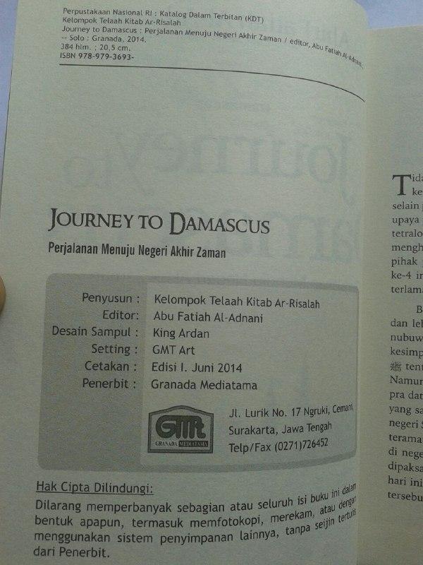 Buku Journey To Damascus Perjalanan Menuju Negeri Akhir Zaman isi 3