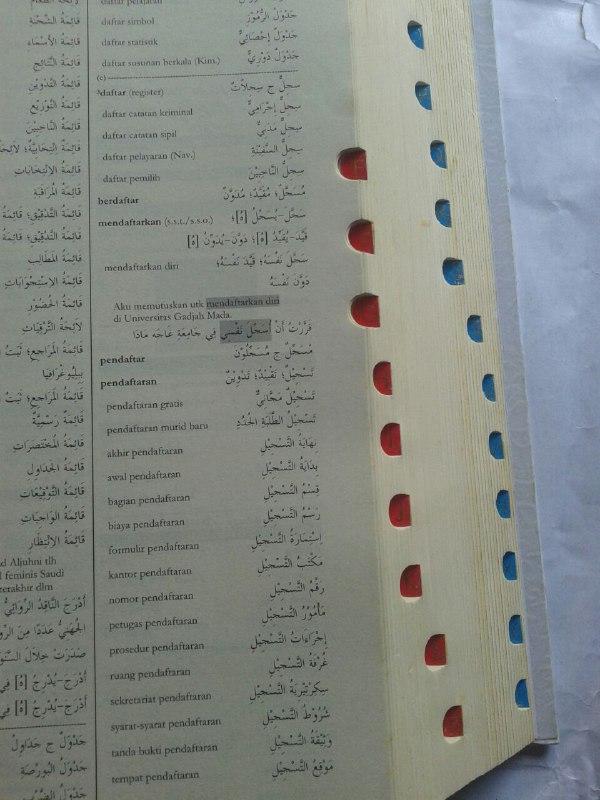 Buku KABA Kamus Akbar Bahasa Arab (Indonesia-Arab) isi 2