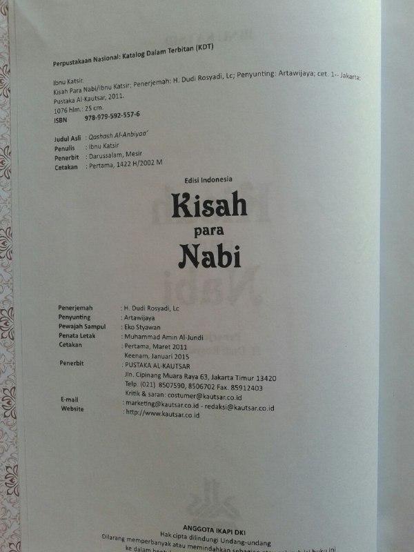 Buku Kisah Para Nabi isi 4