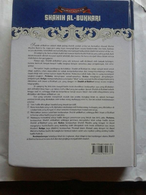 Buku Mukhtashar Shahih Al-Bukhari cover 2