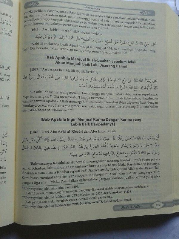 Buku Mukhtashar Shahih Al-Bukhari isi
