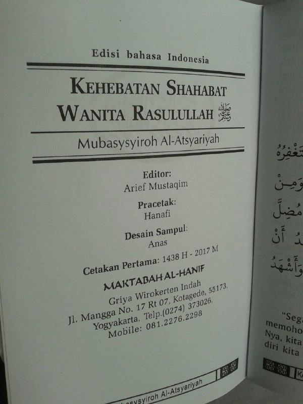Buku Saku Kehebatan Shahabat Wanita Rasulullah isi 2