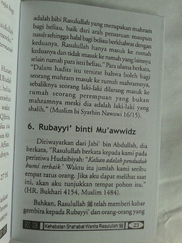 Buku Saku Kehebatan Shahabat Wanita Rasulullah isi