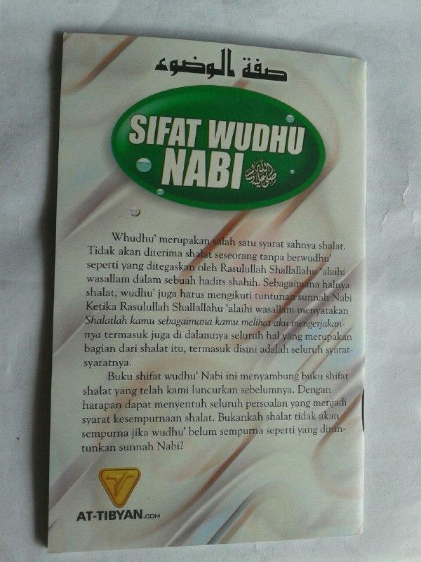 Buku Saku Sifat Wudhu Nabi cover