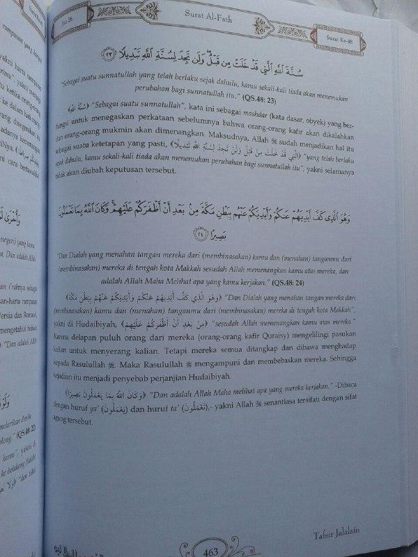 Buku Tafsir Jalalain Set 3 Jilid isi