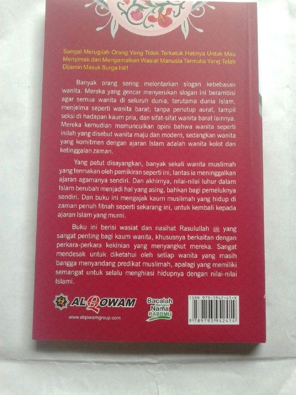 Buku Wasiat Rasul Kepada Kaum Wanita Cover 2
