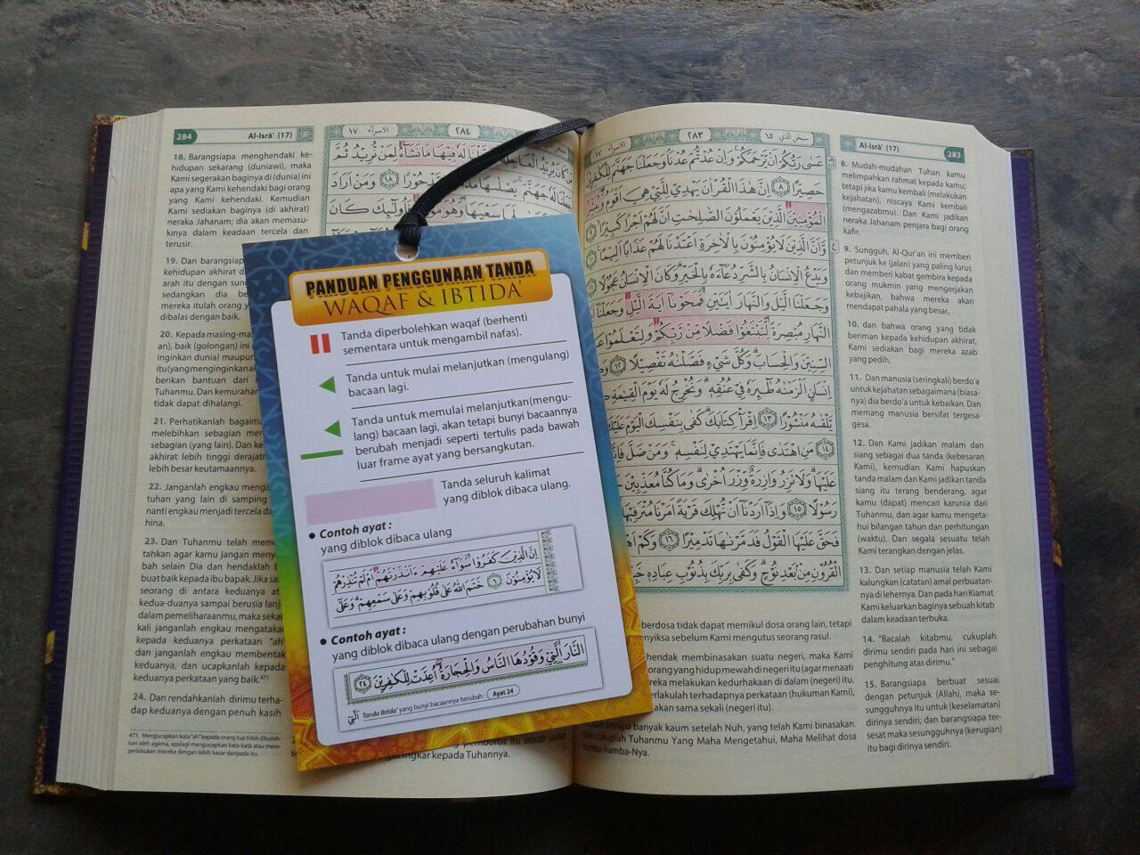 Al-Qur'an Dan Terjemah Dilengkapi Panduan Waqaf Dan Ibtida isi