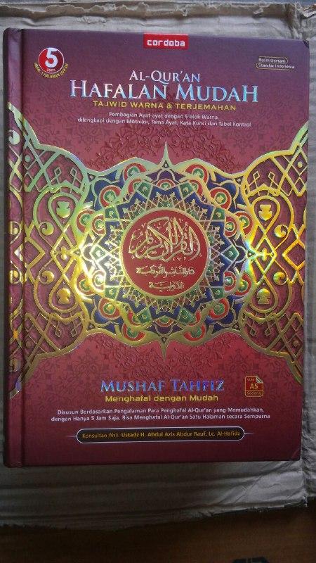 Al-Qur'an Mushaf Tahfiz Hafalan Tajwid Warna Terjemahan cover