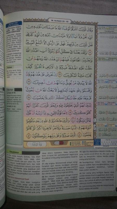 Al-Qur'an Mushaf Tahfiz Hafalan Tajwid Warna Terjemahan isi