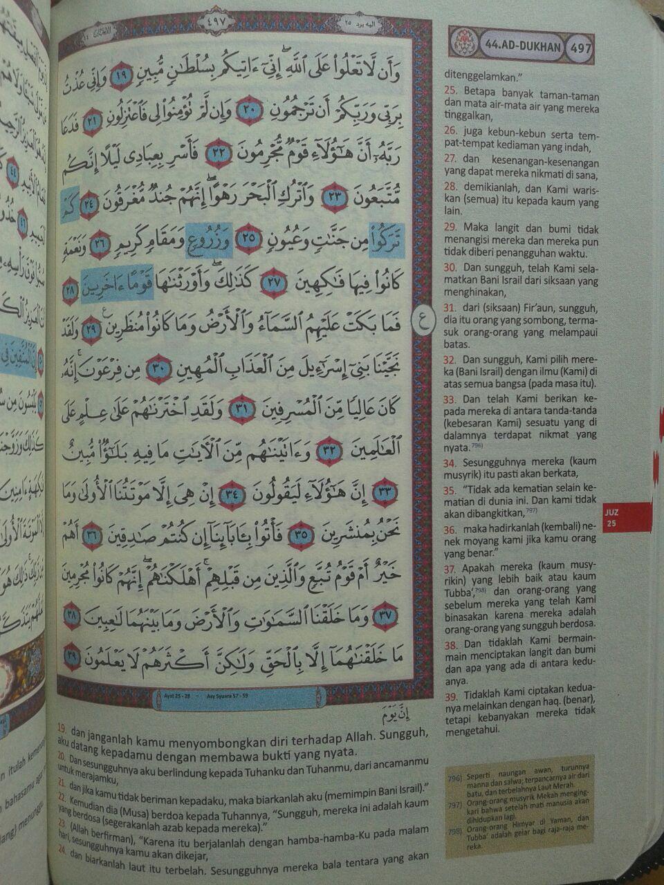 Al-Qur'an Terjemah Resleting Ash-Shahib Ukuran A6 isi 2