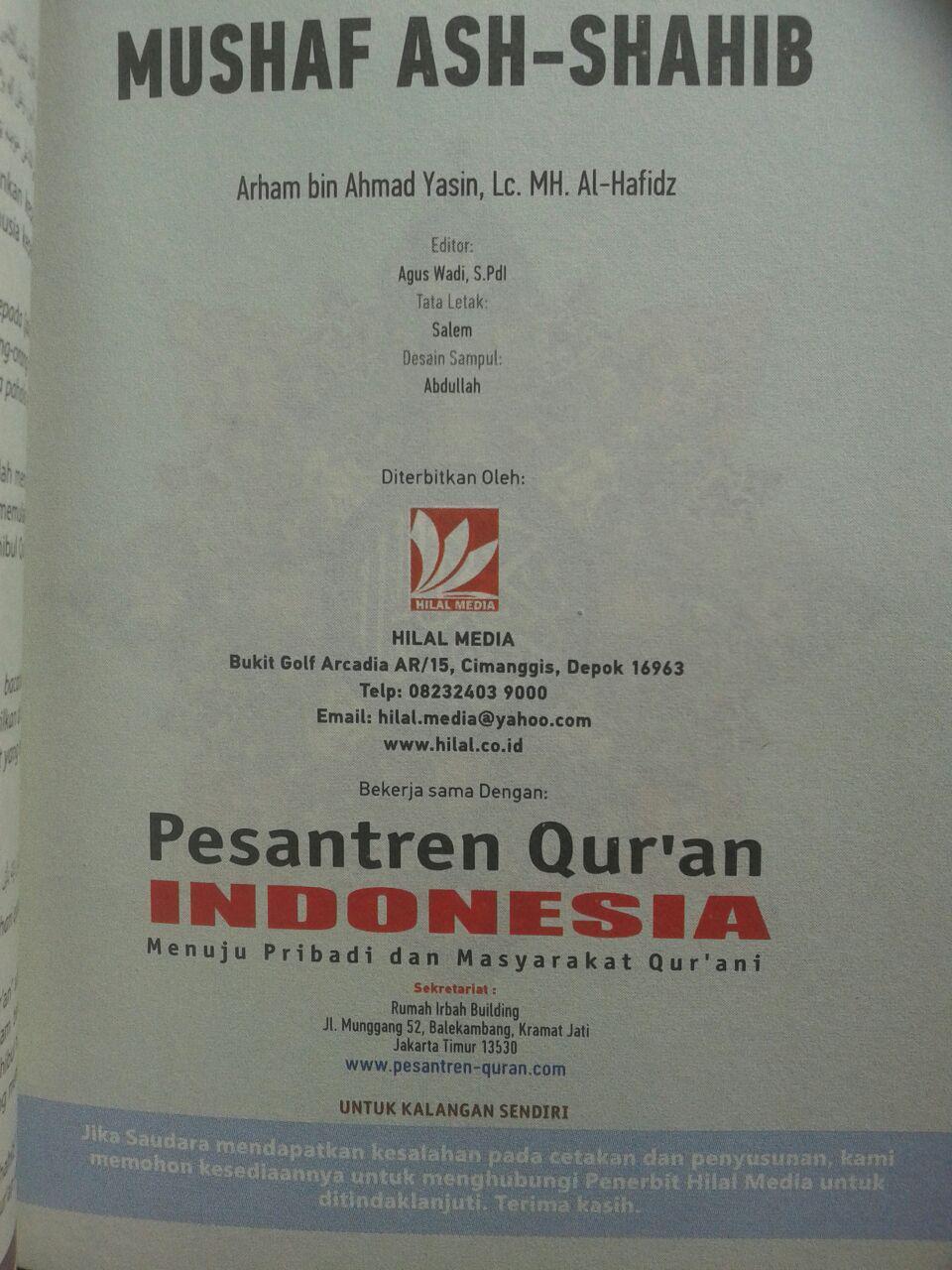 Al-Qur'an Terjemah Resleting Ash-Shahib Ukuran A6 isi 5