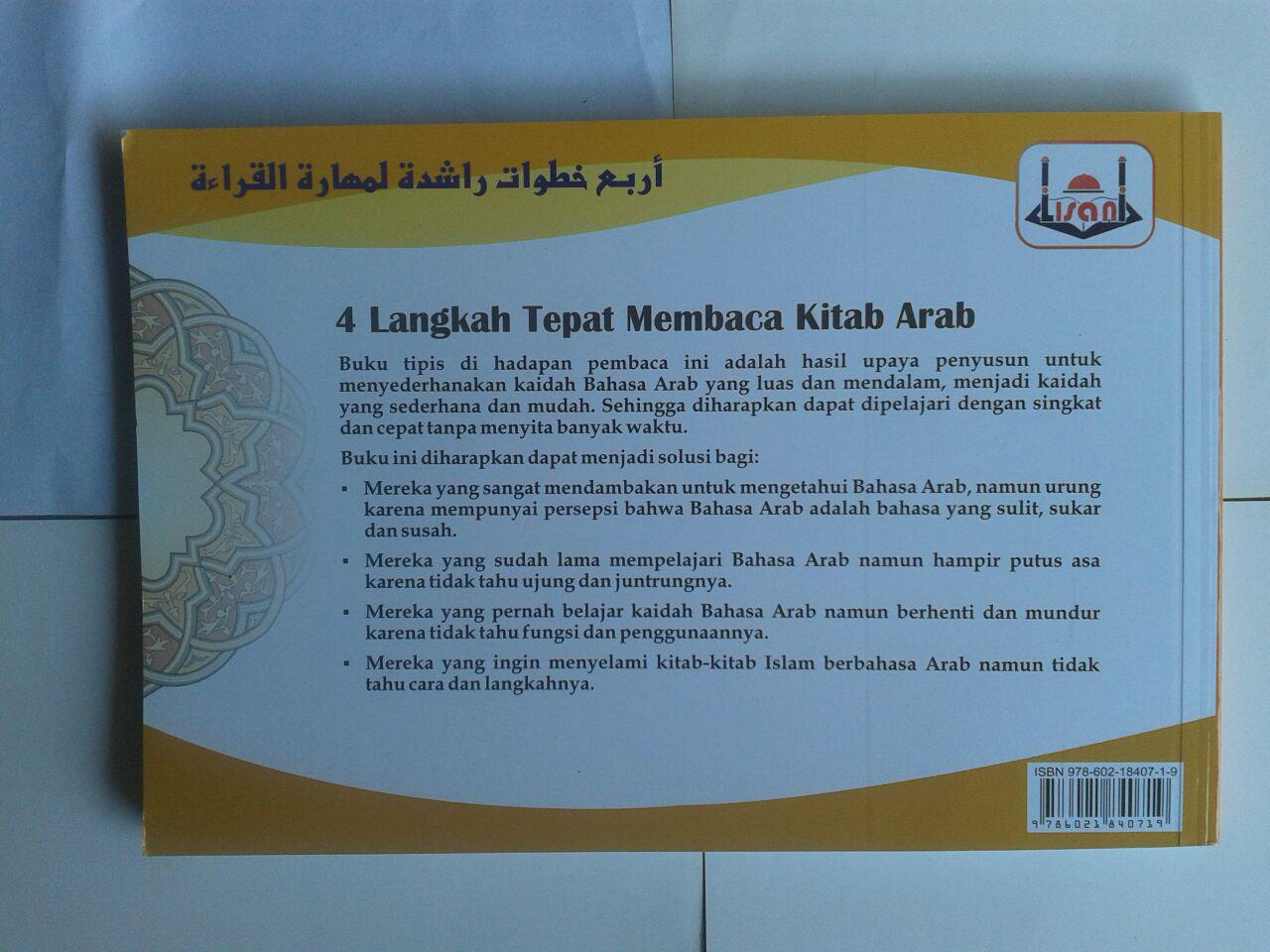 Buku 4 Langkah Tepat Membaca Kitab Arab Metode Lisani cover 2