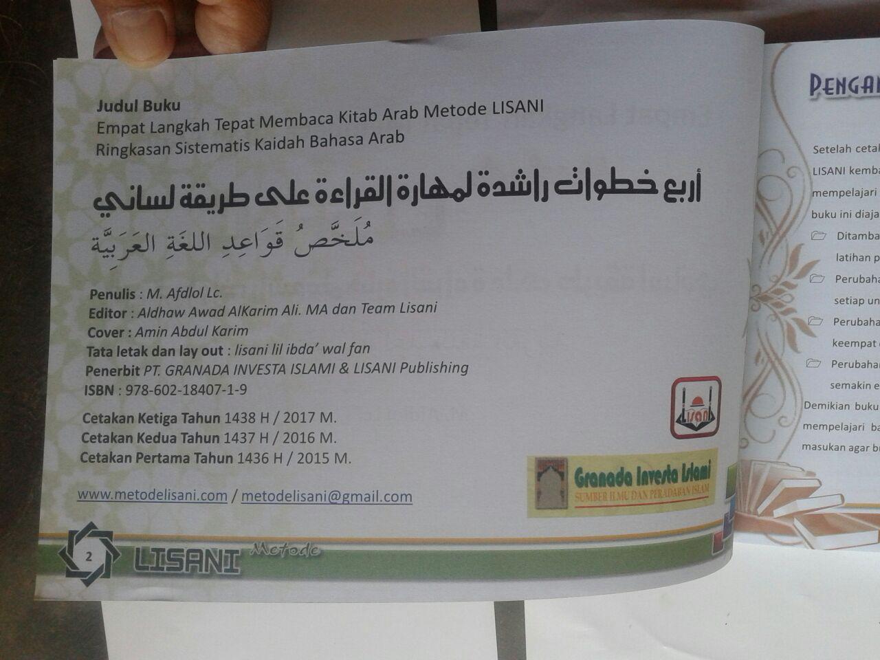 Buku 4 Langkah Tepat Membaca Kitab Arab Metode Lisani isi 6