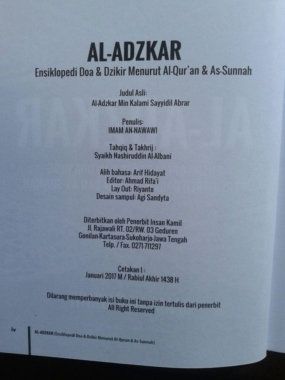 Buku Al-Adzkar Ensiklopedi Dzikir Dan Doa isi 3