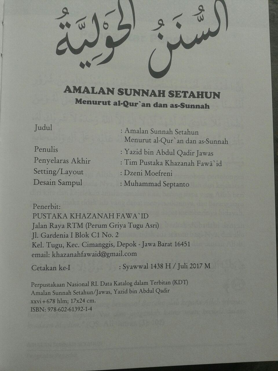 Buku Amalan Sunnah Setahun isi 2