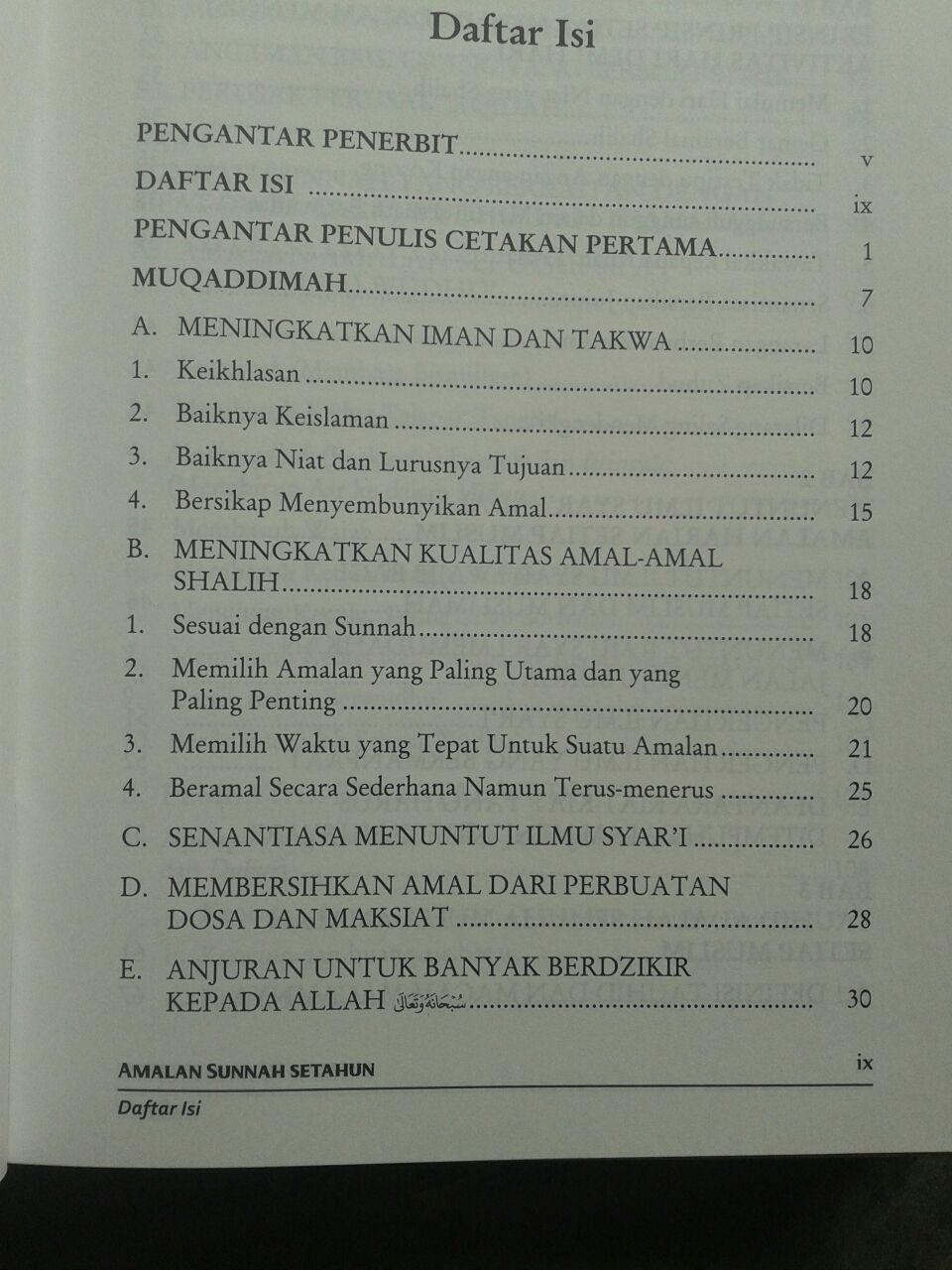 Buku Amalan Sunnah Setahun isi 3