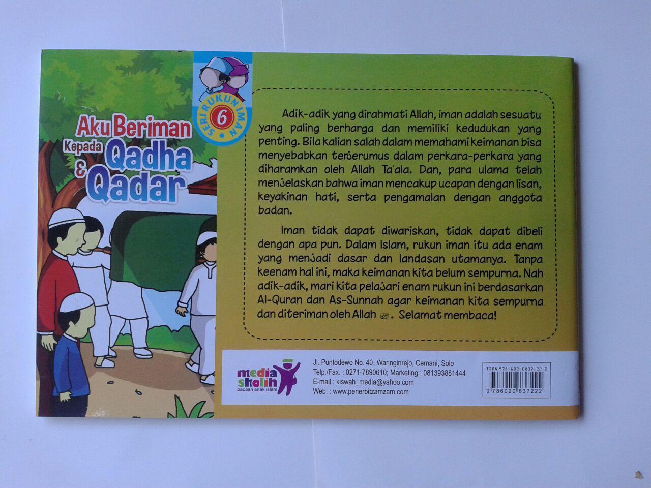 Buku Anak Aku Beriman Kepada Qadha Dan Qadar cover 2
