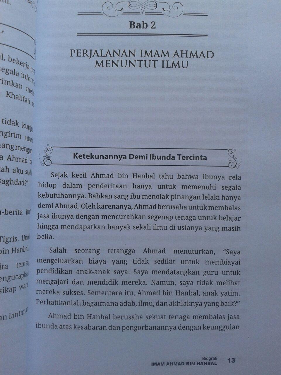 Buku Biografi Imam Ahmad Kehidupan Sikap Dan Pendapatnya isi 2