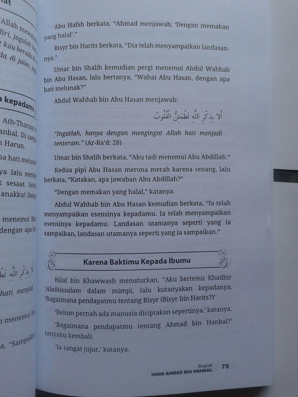 Buku Biografi Imam Ahmad Kehidupan Sikap Dan Pendapatnya isi