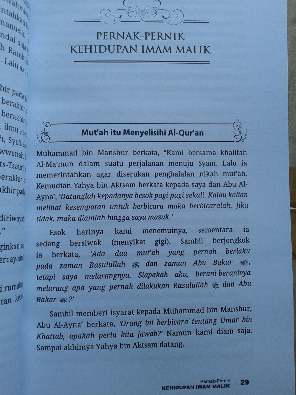 Buku Biografi Imam Malik isi 2