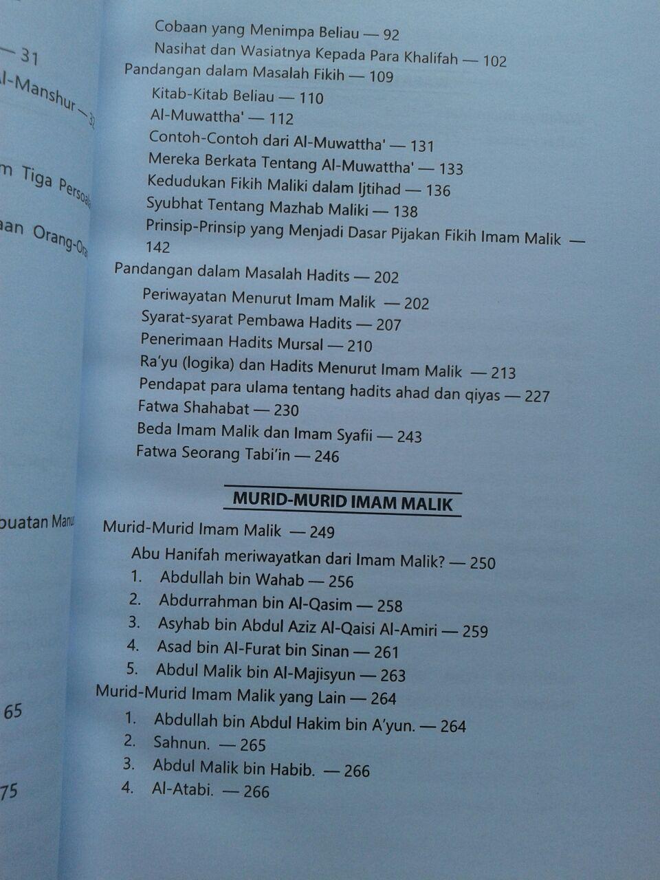 Buku Biografi Imam Malik isi 3
