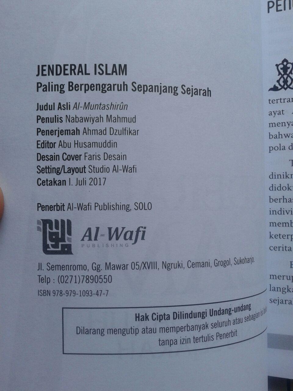Buku Jenderal Islam Paling Berpengaruh Sepanjang Sejarah isi 5