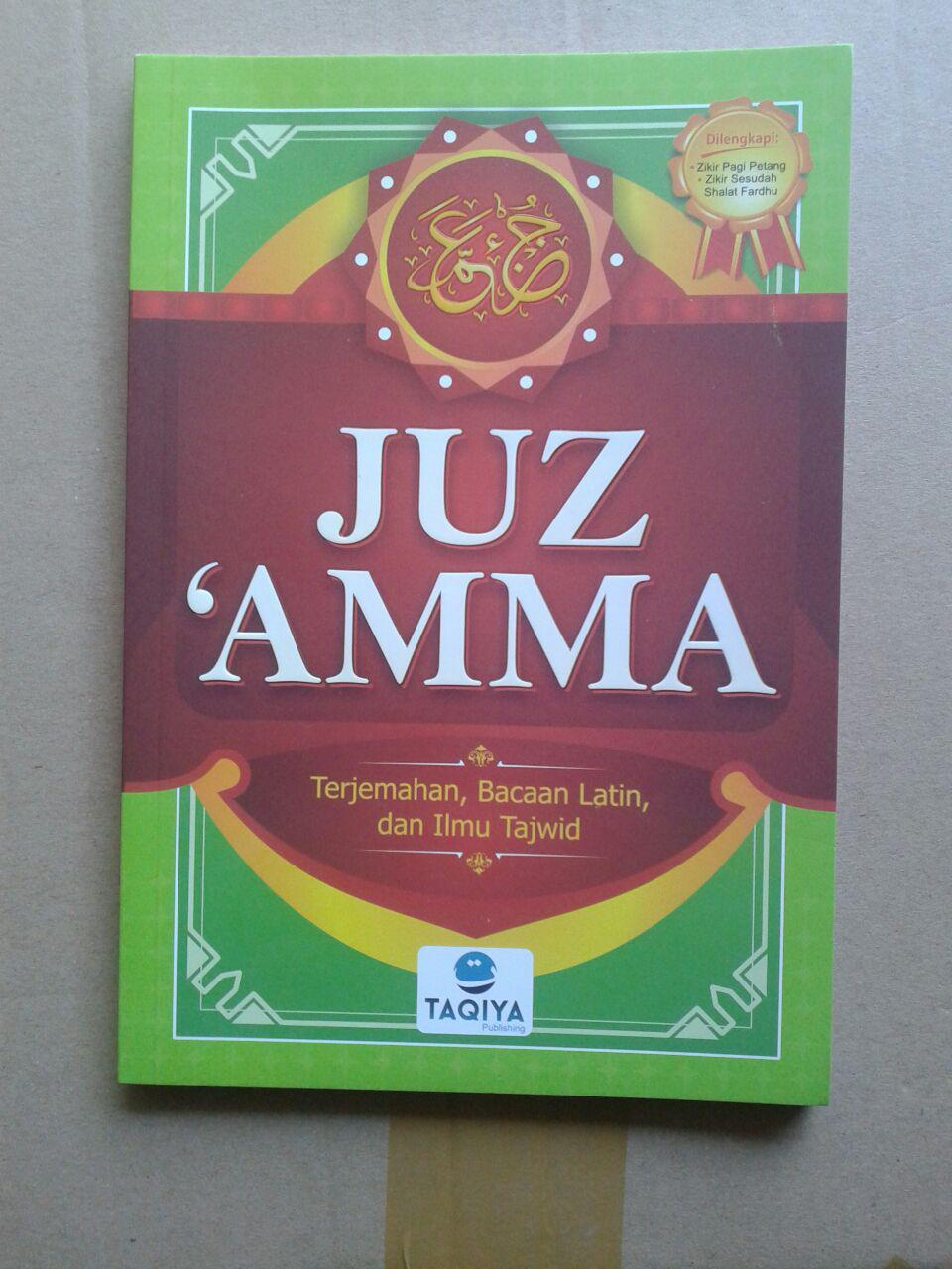 Buku Juz Amma Terjemahan Bacaan Latin Dan Ilmu Tajwid cover 2