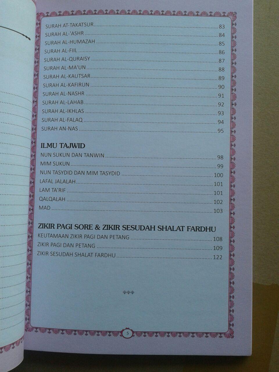 Buku Juz Amma Terjemahan Bacaan Latin Dan Ilmu Tajwid isi 2