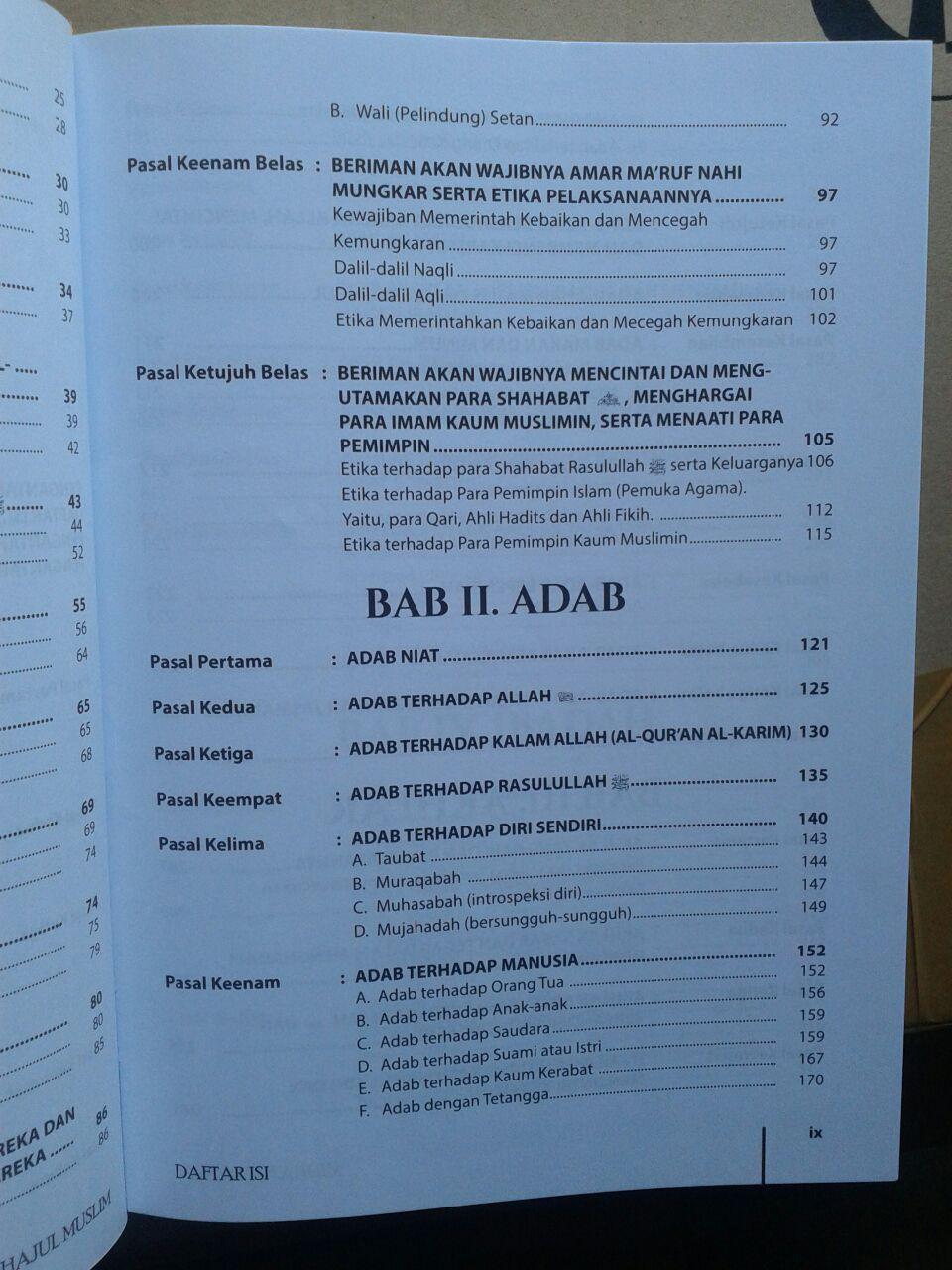 Buku Minhajul Muslim Pedoman Hidup Ideal Seorang Muslim isi 3