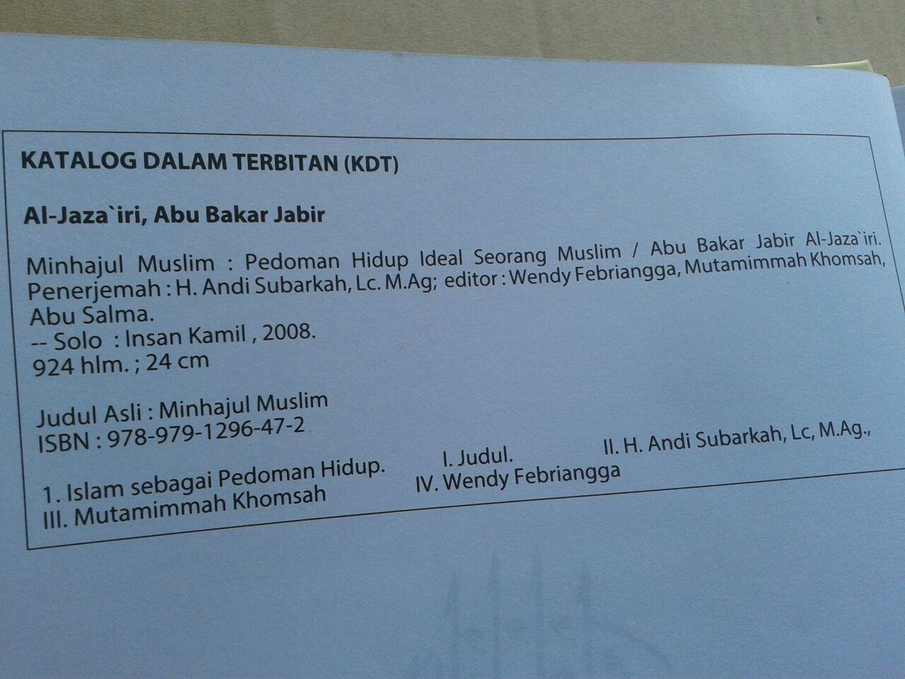Buku Minhajul Muslim Pedoman Hidup Ideal Seorang Muslim isi 5