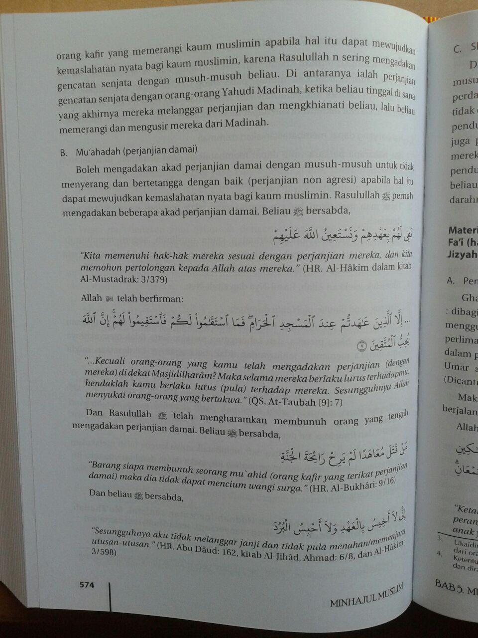 Buku Minhajul Muslim Pedoman Hidup Ideal Seorang Muslim isi