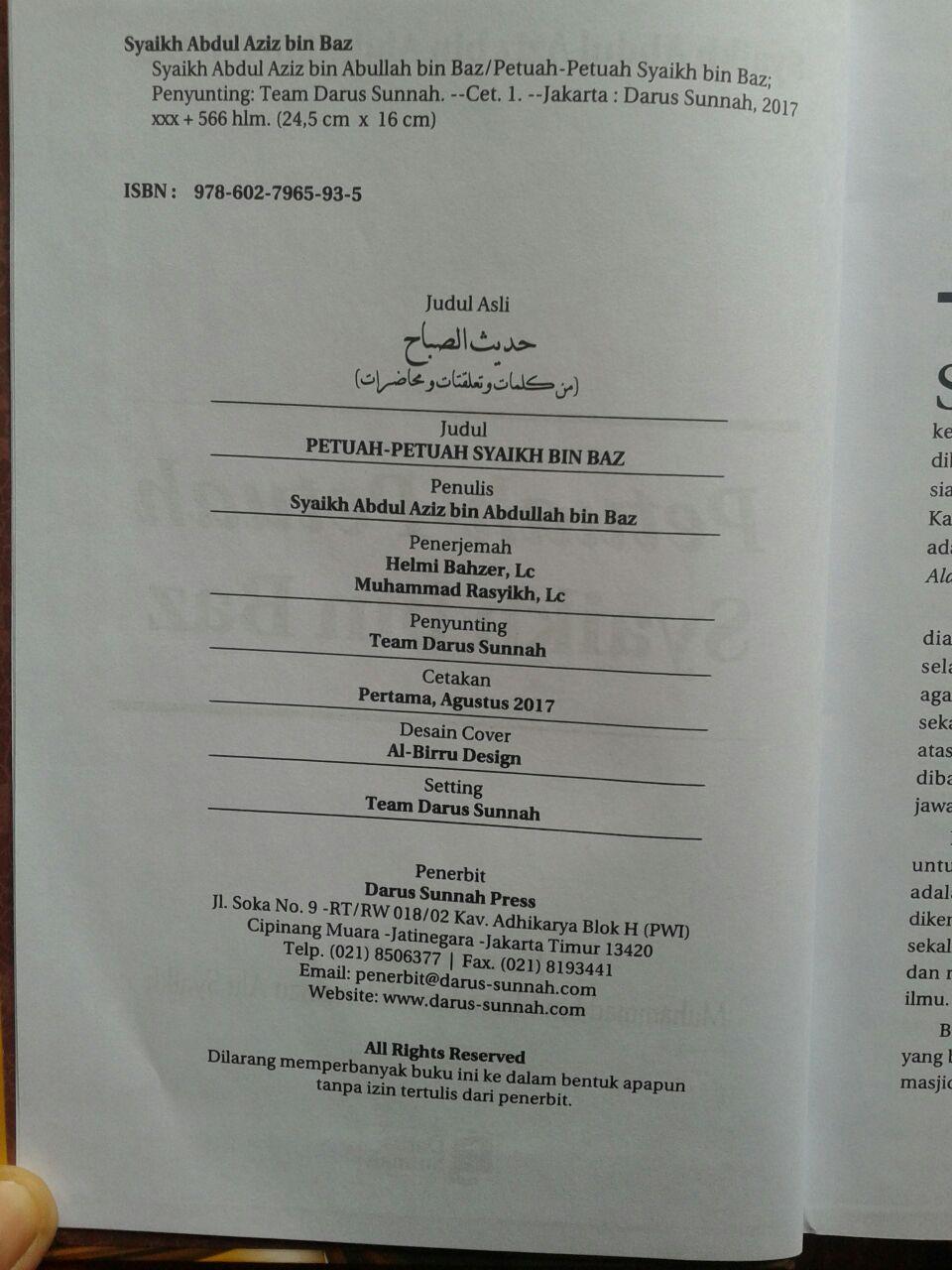 Buku Petuah-Petuah Syaikh Bin Baz isi 4