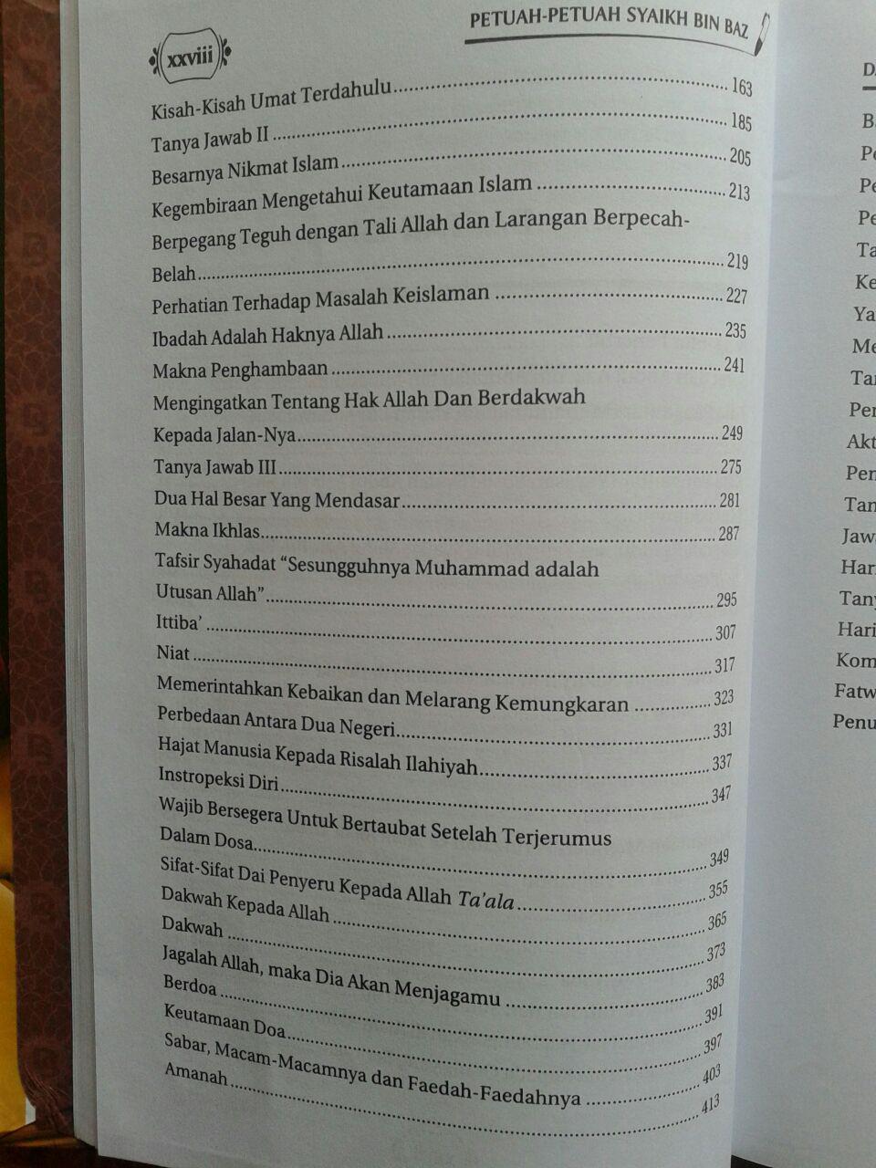Buku Petuah-Petuah Syaikh Bin Baz isi 5