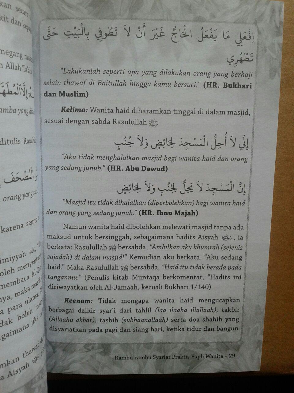 Buku Rambu-Rambu Syariat Praktis Fiqih Wanita isi 2