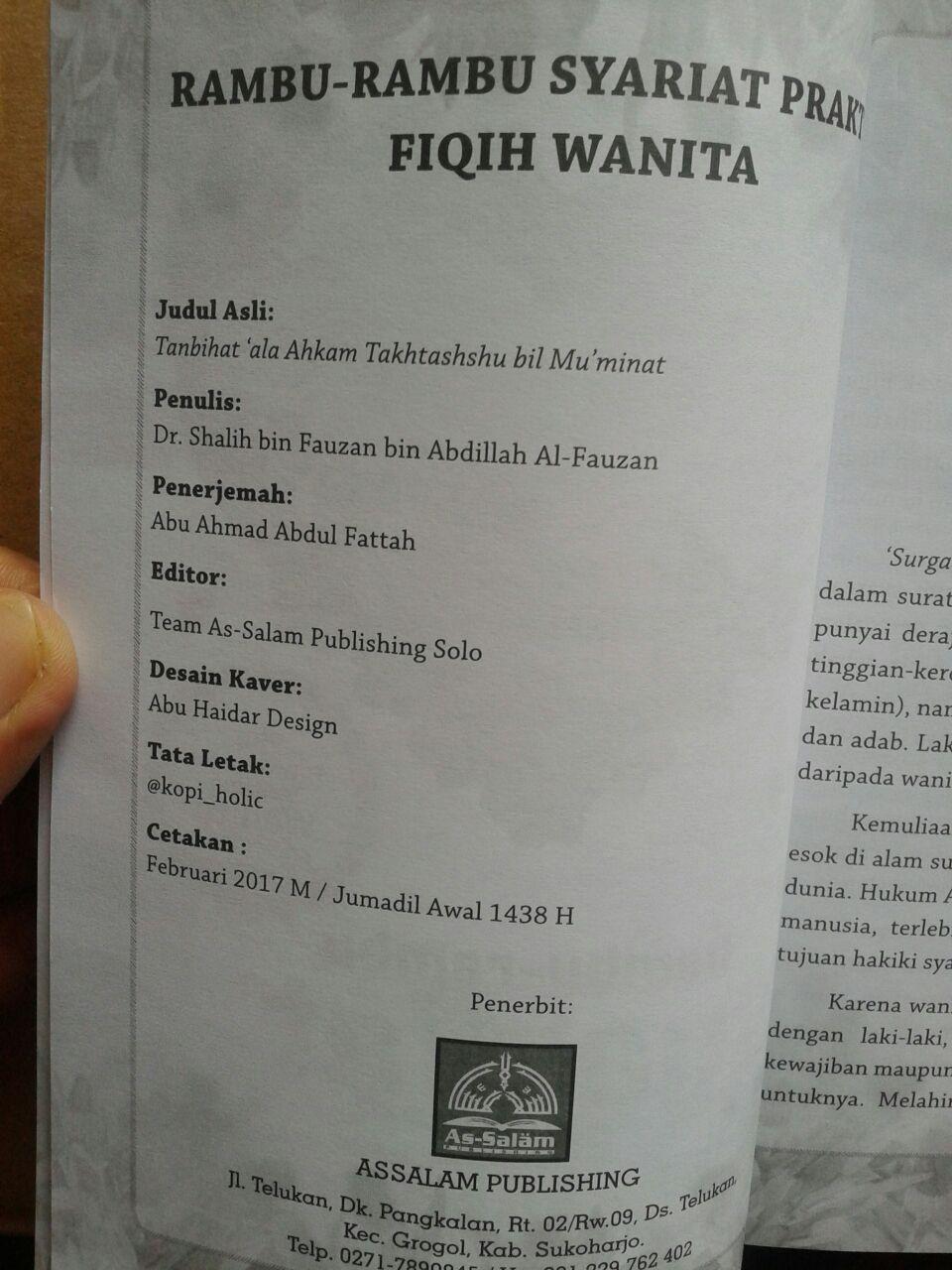 Buku Rambu-Rambu Syariat Praktis Fiqih Wanita isi 4